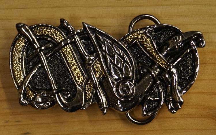 "Belt buckle  "" Celtic twin snake """