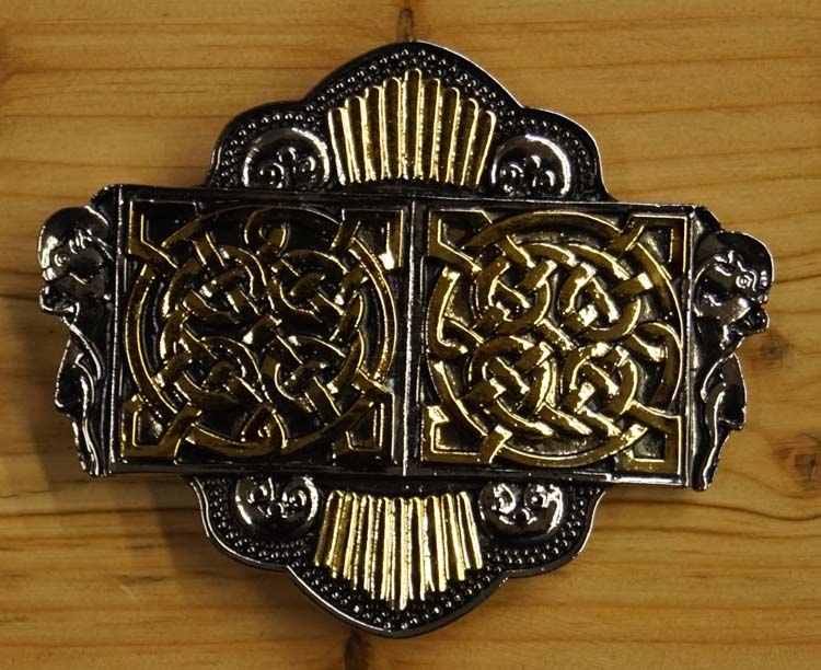 """Buckle / gesp  """"  Two celtic knot """""""