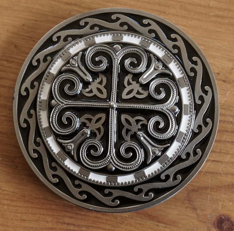 "Buckle / gesp  "" Cross with celtic signs """