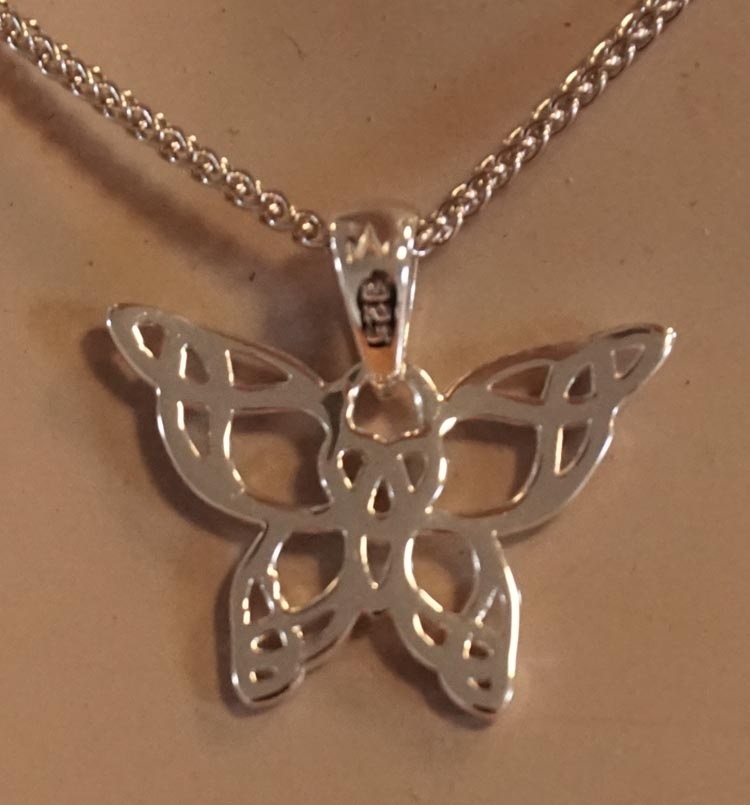 "Hanger  "" Celtic butterfly  """