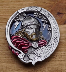 "Buckle / gesp  "" Thor viking god """